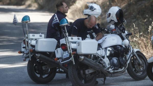 Αστυνομικοί μοτοσυκλετιστές στα Τρίκαλα - 15-7-2020