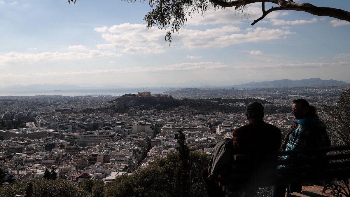 Αθήνα από τον Λυκαβηττό - lockdown Νοέμβρης 2020