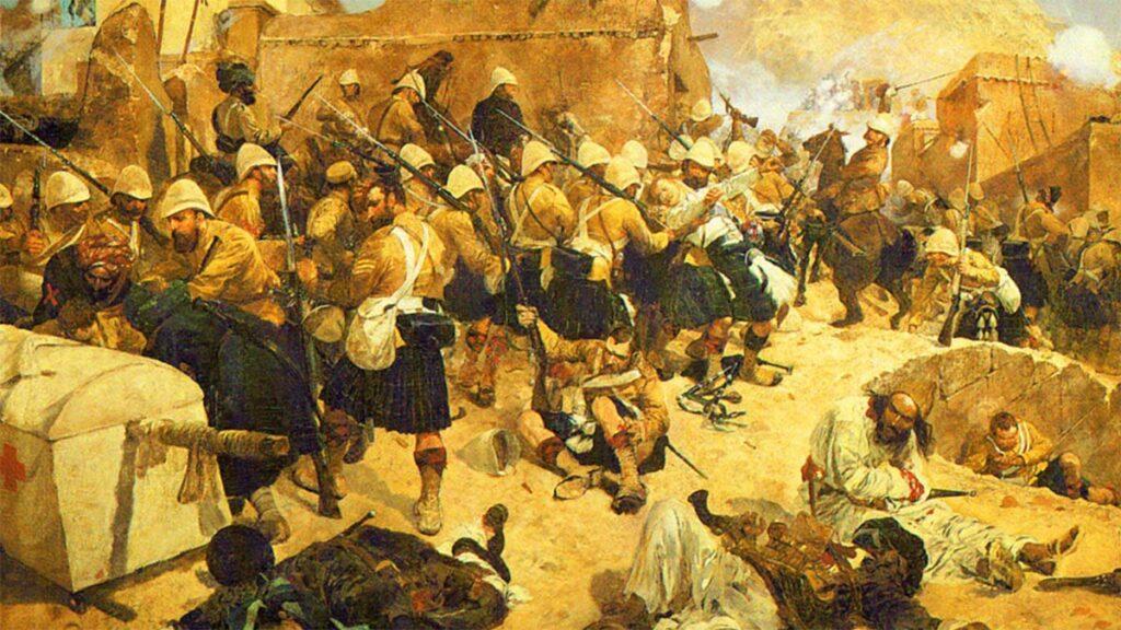 Πίνακας που αποτυπώνει την εξέγερση των Αφγανών στην Καμπούλ εναντίον των Βρετανών αποικιοκρατών