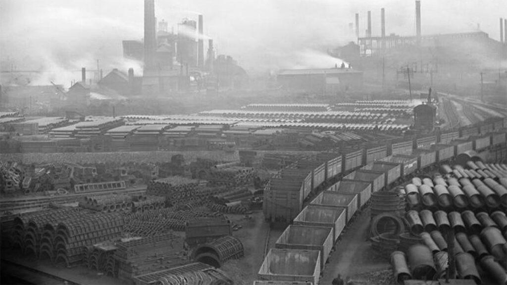 Εργοστάσιο χαλυβουργίας στην Αγγλία