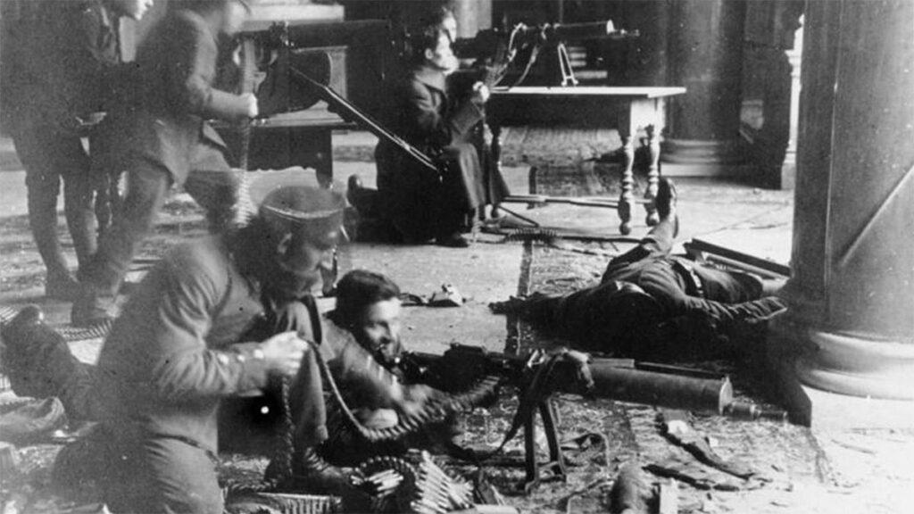 Γερμανοί εργάτες υπερασπίζονται την Επανάσταση το 1918
