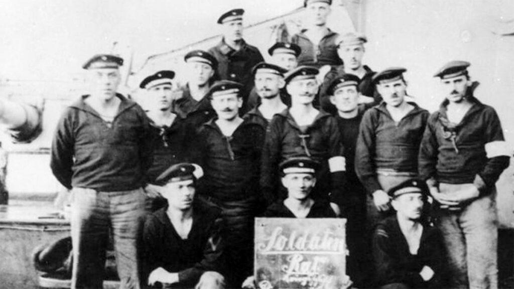 Επαναστατημένοι ναύτες στο Κίελο το 1918