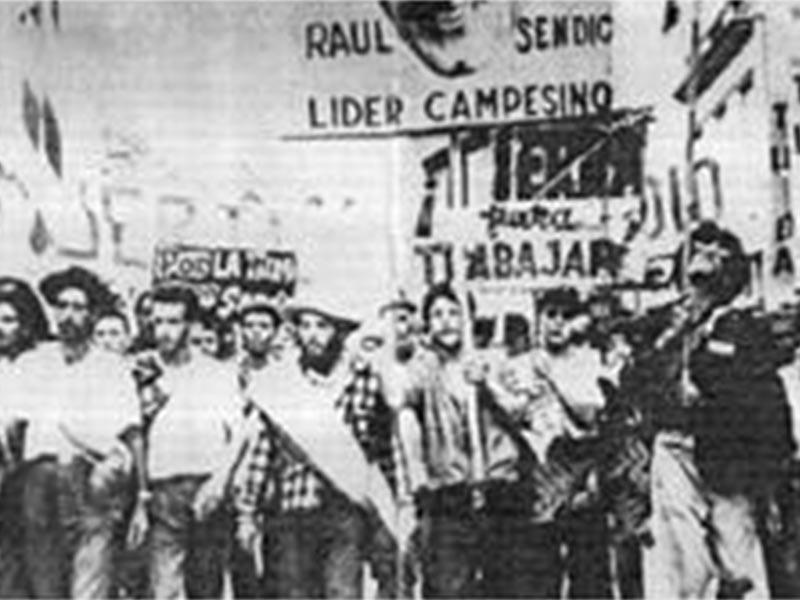 Διαδήλωση με σύνθημα «Ψωμί, δουλειά, ελευθερία» στο Μοντεβιδέο το 1983