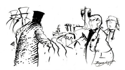 σκίτσο του Τάκη Βαρελά
