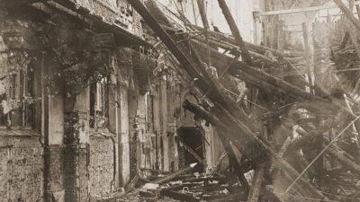 ΝΑΖΙ - Γερμανία - Η παλιά Συναγωγή στο Άαχεν μετά τη «Νύχτα των Κρυστάλλων»