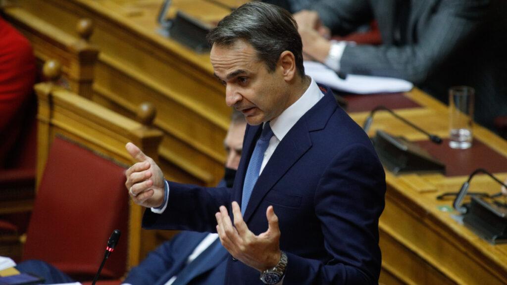 Ο Κ. Μητσοτάκης κατά τη συζήτηση του αντεργατικού νόμου του Υπουργείου Εργασίας 25/11/2020