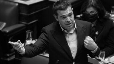 Ο Α. Τσίπρας κατά τη συζήτηση του αντεργατικού νόμου του Υπουργείου Εργασίας 25/11/2020