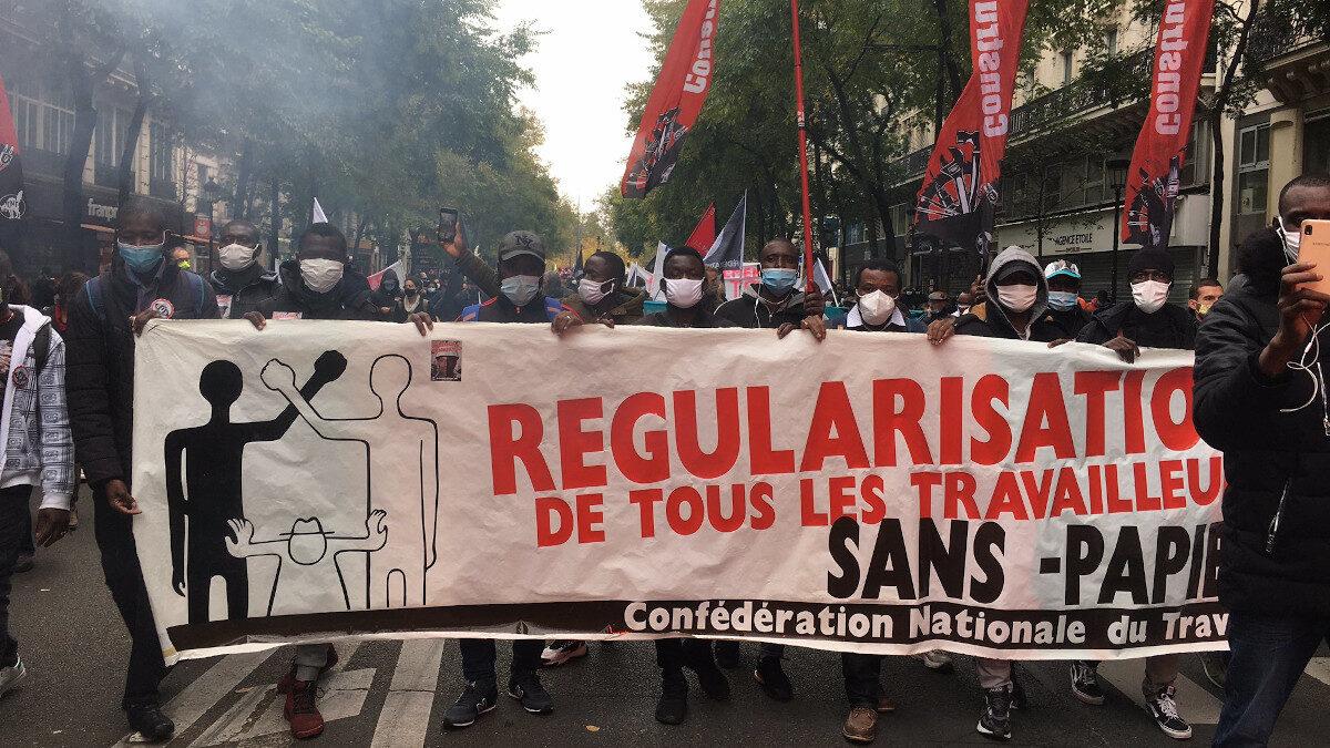 Γαλλία διαδηλώσεις μεταναστών