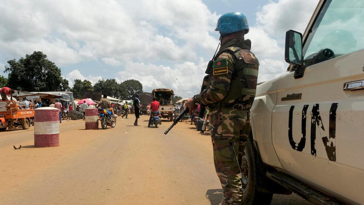 Όχημα του ΟΗΕ στην Κεντροαφρικανική Δημοκρατία (CAR)