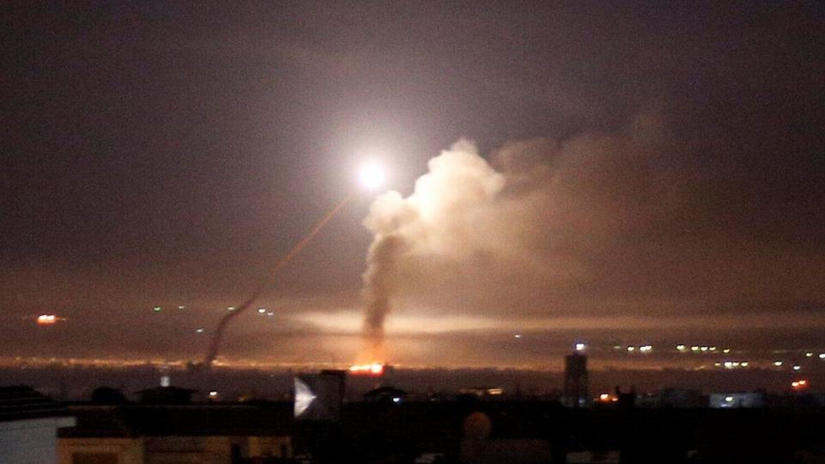 επίθεση στη συρία από ισραηλινούς πυραύλους