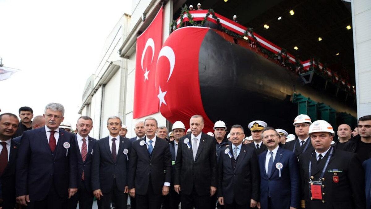 Από την καθέλκυση του 1ου υποβρυχίου Type 214 της Γερμανικής Τhyssenkrupp Marine Systems,σε ναυπηγείο της Τουρκίας