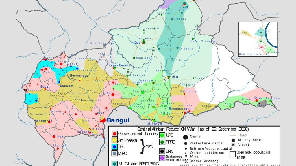 Χάρτης Κεντροαφρικανική Δημοκρατία