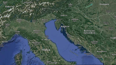 Χάρτης της Αδριατικής Θάλασσας
