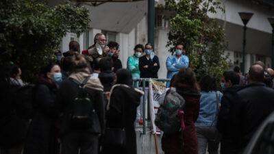 """Απ' την κινητοποίηση των νοσοκομειακών γιατρών και εργαζομένων στο νοσοκομείο """"Ευαγγελισμός"""""""