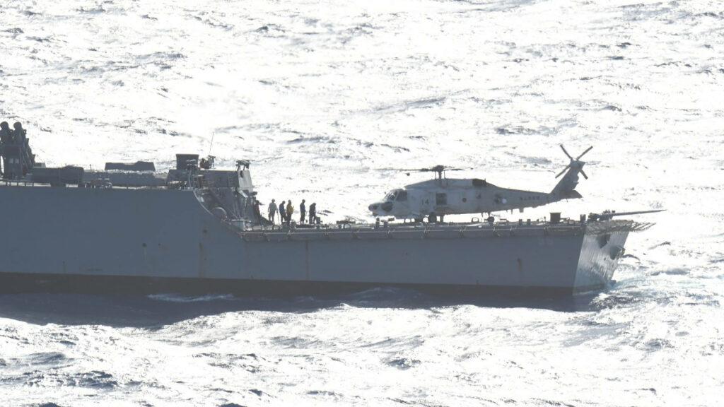 Αντιτορπιλικό ΗΠΑ - Γαλλικό Υποβρύχιο - Συνεκπαίδευση Γαλλικού Πολεμικού Ναυτικού με Ιαπωνικό και Πολεμικό Ναυτικό ΗΠΑ (7ος Στόλος) στη Θάλασσα Φιλιππίνων στον Ειρηνικό Ωκεανό - Δεκέμβρης 2020