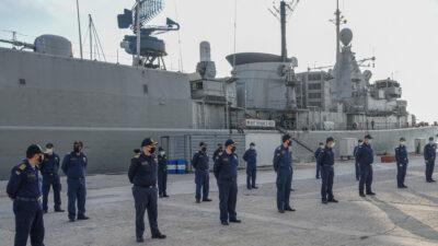 Πολεμικό Ναυτικό - Ναύσταθμος Σαλαμίνας - Πλήρωμα και Φρεγάτα Έλλη