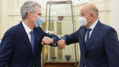 Συνάντηση Τ. Πάιατ (Πρέσβη ΗΠΑ στην Αθήνα) με το Ν. Δένδια (Υπουργό Εξωτερικών Κυβέρνησης ΝΔ) - Δεκέμβρης 2020