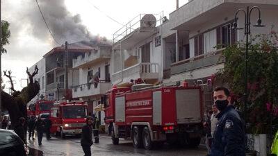 Πυροσβεστική - Πυρκαγιά σε σπίτι στη Ρόδο - Δεκέμβρης 2020