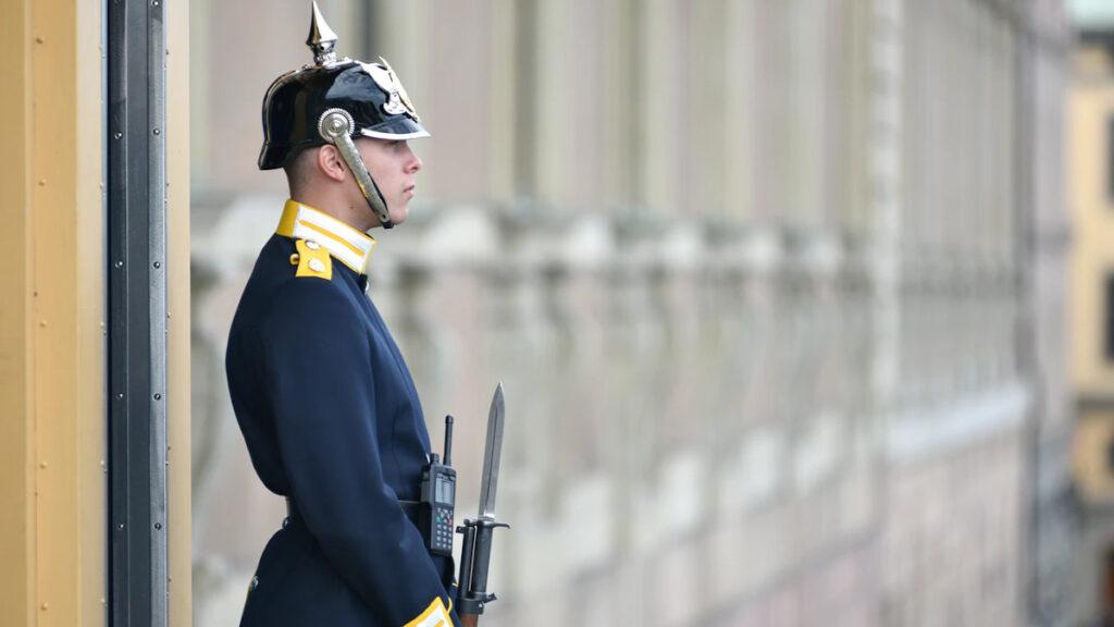 Βασιλική Φρουρά στο Παλάτι του βασιλιά της Σουηδίας, Στοκχόλμη