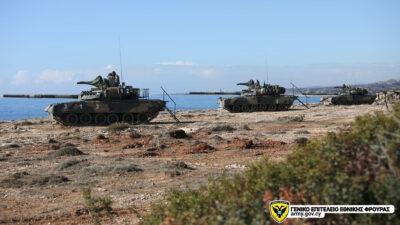 Βολές Τεθωρακισμένων Αρμάτων T80U της Εθνικής Φρουράς της Κύπρου - Δεκέμβρης 2020