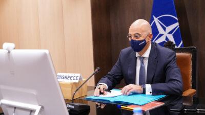 Ν. Δένδιας στη Σύνοδο Υπουργών Εξωτερικών του ΝΑΤΟ (τηλεδιάσκεψη) / Δεκέμβρης 2020
