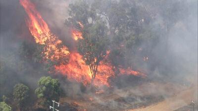 πυρκαγιά στο περθ της αυστραλίας