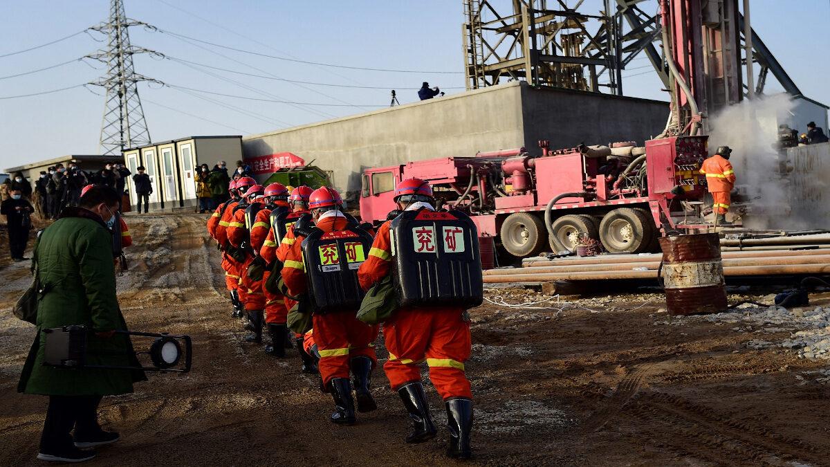 Διάσωση ανθρακωρύχων στην Κίνα