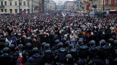 Διαδηλώσεις υποστηρικτών του Ναβάλνι
