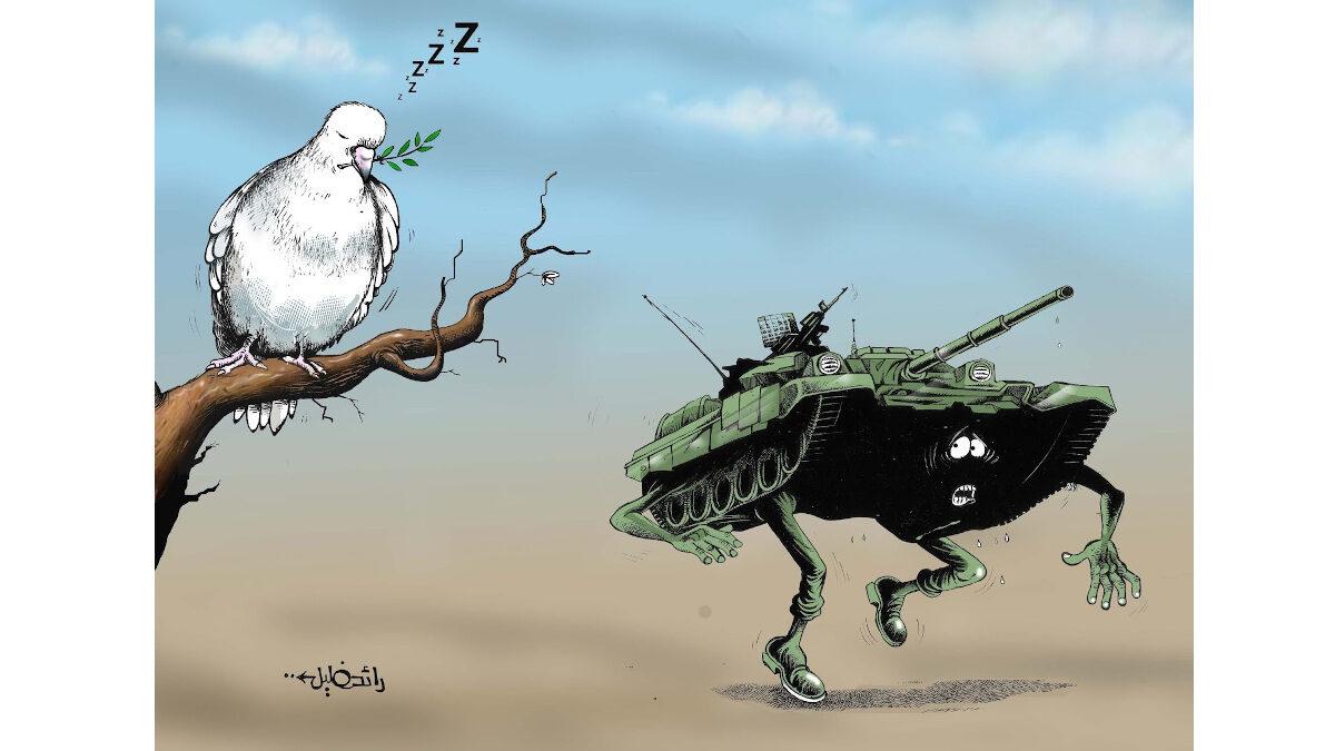 Σκίτσο του Σύριου γελιογράφου RAED KHALIL
