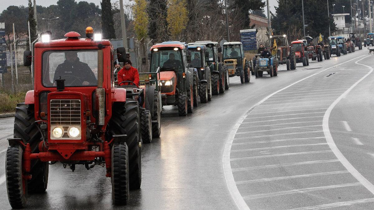 Τρακτέρ - Κινητοποιήσεις αγροτών στον Τύρναβο, Θεσσαλία - Γενάρης 2020