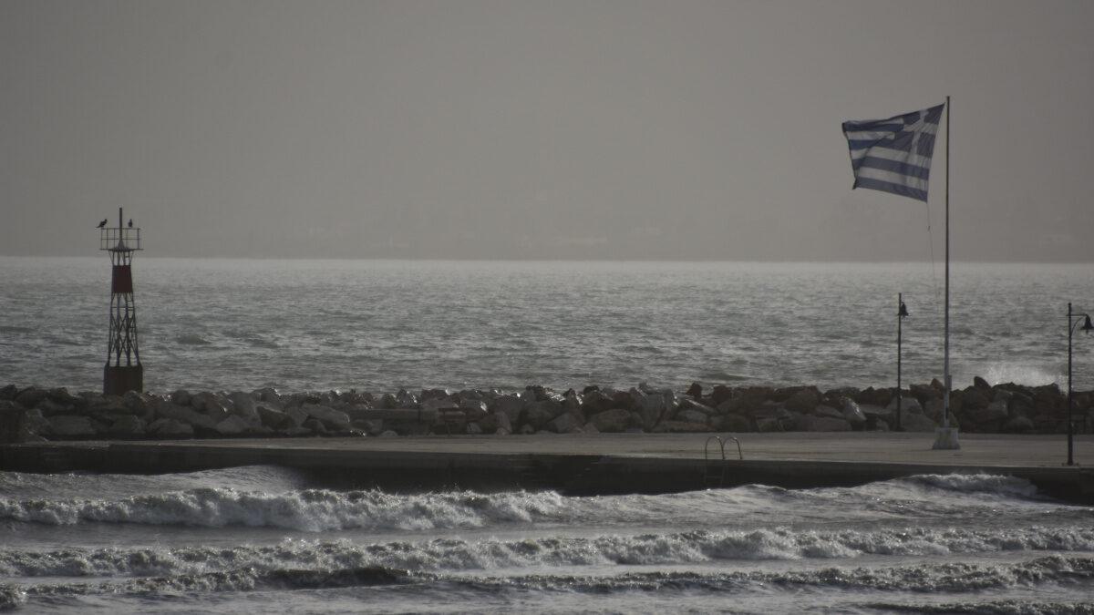 Νότιοι άνεμοι - Σημαία - Θάλασσα- Αργολίδα - Γενάρης 2021