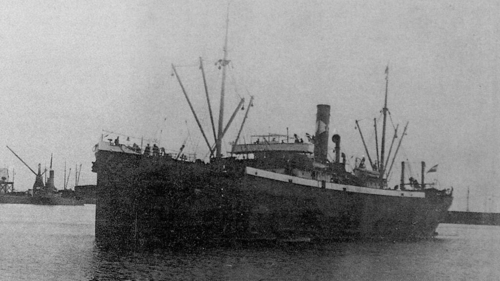 Το Ατμόπλοιο Βόλος στο Λιμάνι της Θάσου