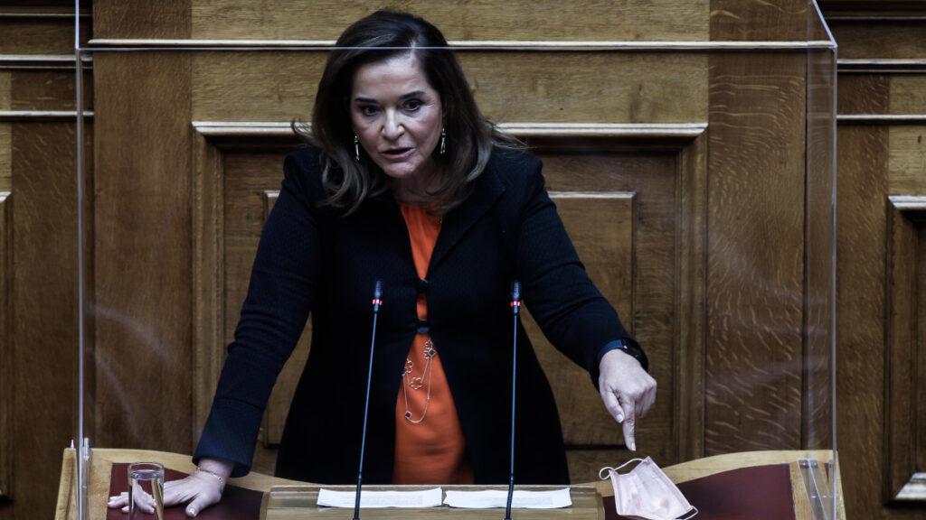 ΝΔ - Ντόρα Μπακογιάννη στο βήμα της Βουλής - Γενάρης 2021