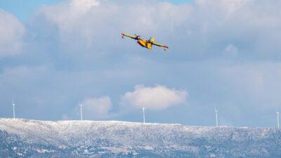 Εκπαίδευση πιλότων Πυροσβεστικών Αεροπλάνων - Γενάρης 2021 - Δίρφη, Εύβοια