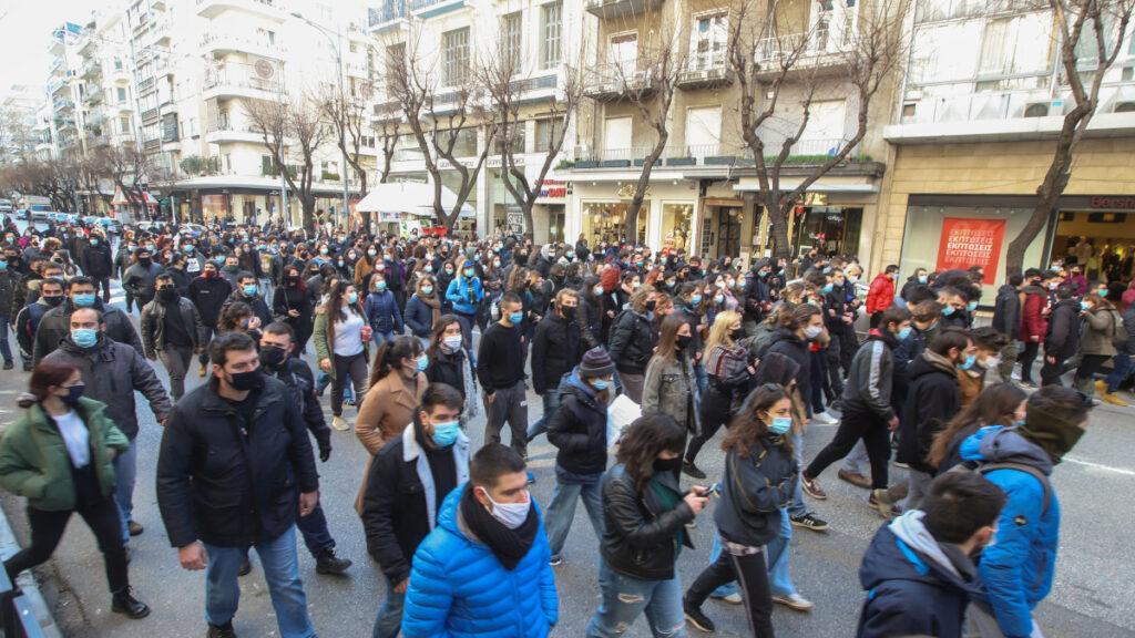 Στιγμιότυπο από το Πανεκπαιδευτικό Συλλαλητήριο στις 28-1