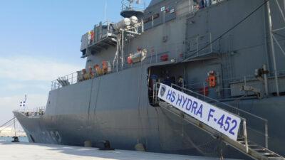 Πολεμικό Ναυτικό - Η Φρεγάτα ΥΔΡΑ (F452) στο λιμάνι Αλεξάνδρειας