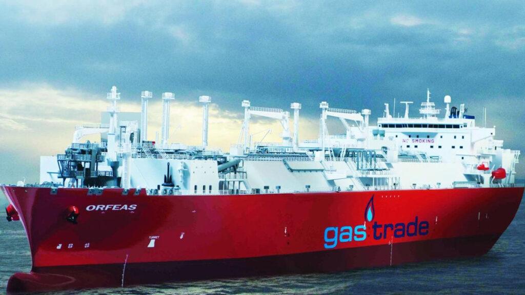 Πλωτή μονάδας αποθήκευσης κι επαναεριοποίησης υγροποιημένου φυσικού αερίου (FSRU) της εταιρίας Gastrade