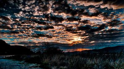 Ηλιοβασίλεμα στη Γαβρολίμνη - Αιτωλοακαρνανία