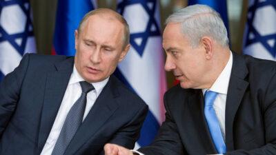 Μ. Νετανιάχου, Προθυπουργός Ισραήλ και ο Β. Πούτιν, Πρόεδρος της Ρωσίας σε συνάντηση