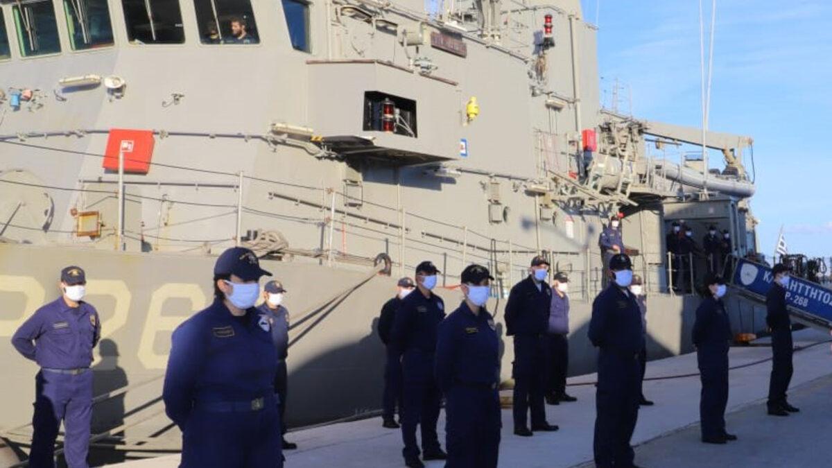 """Πολεμικό Ναυτικό - Το πλήρωμα της Κανονιοφόρου Αήττητος (P268) - Τύπου """"OSPREY HSY 56A"""""""