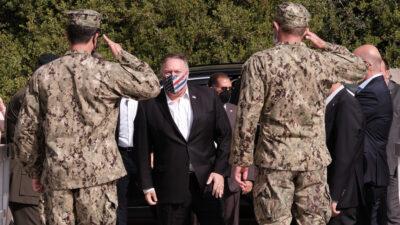 Επίσκεψη Υπουργού Εξωτερικών ΗΠΑ στη ΝΑΤΟϊκή Βάση της Σούδας στην Κρήτη - 29/9/2020