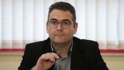 Ο Γιάννης Πρωτούλης, μέλος του ΠΓ της ΚΕ του ΚΚΕ
