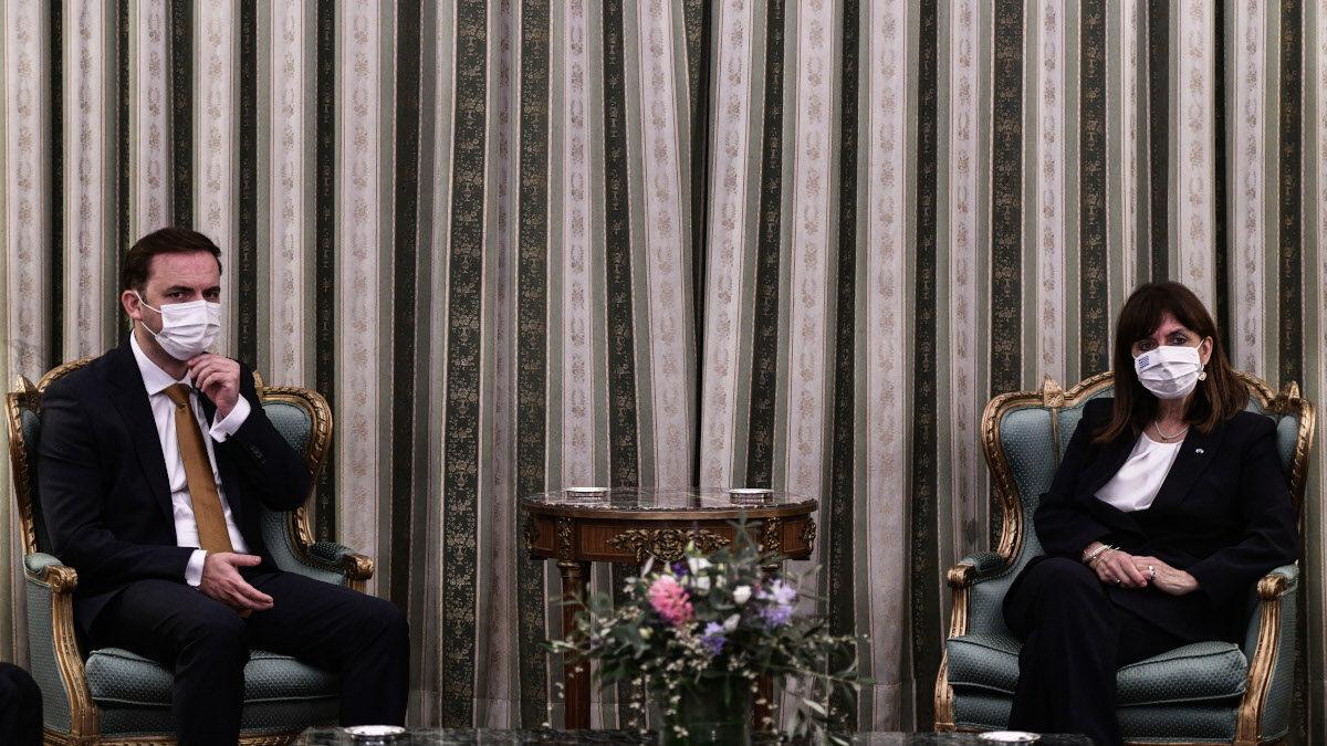 Συνάντηση της ΠτΔ, Κ. Σακελλαροπούλου με τον ΥΠΕΞ της Β. Μακεδόνιας Μπ. Οσμάνι