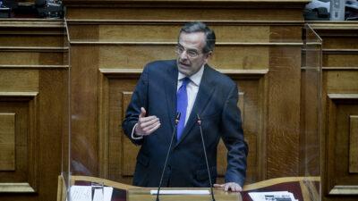 Ο πρώην Πρωθυπουργός, Αντώνης Σαμαράς στη Βουλή