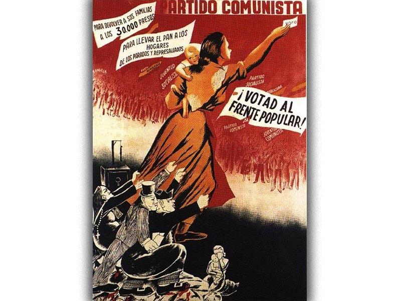Ισπανία - Εκλογές 1936 - ΚΚ Ισπανίας - Λαϊκό Μέτωπο