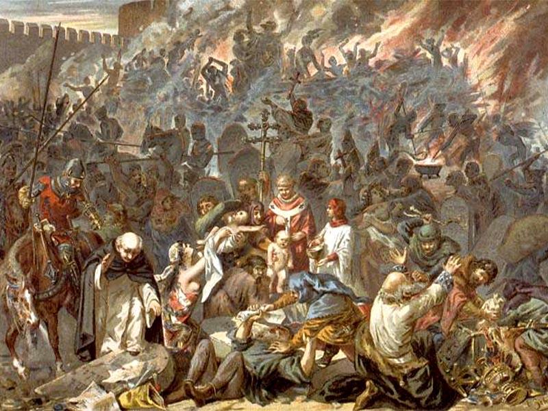 Μεσαίωνας - Στρασβούργο - Πανώλη - σφαγή των Εβραίων