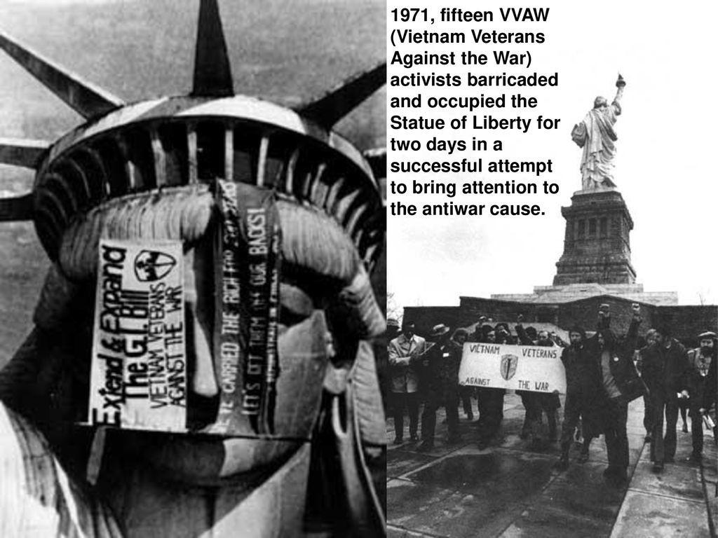 15 Βετεράνοι του Βιετνάμ καταλαμβάνουν το Άγαλμα της Ελευθερίας στη Νέα Υόρκη - 1971