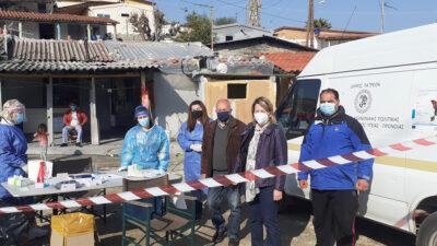 Rapid Test σε καταυλισμούς των Ρομά στην Πάτρα