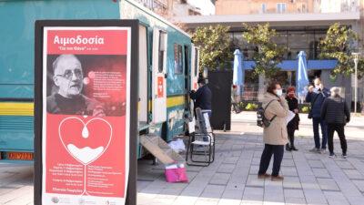 Αιμοδοσία εις μνήμη του Θάνου Μικρούτσικου στο Δήμο Πατρέων