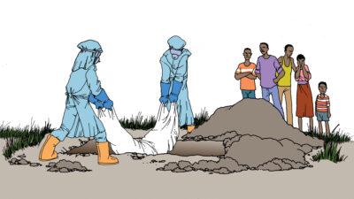 Ασφαλής ταφή σωρού προσβεβλημένου από τον ιό Έμπολα